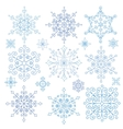 Snowflakes setChristmasNew yearWinter lace vector image