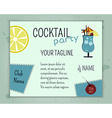 Summer cocktail party poster and banner layout vector image
