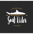 Surf rider t-shirt graphics Vintage style vector image vector image