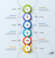 timeline business vertical infographic template 6 vector image vector image
