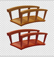 two color shades of wooden bridges vector image