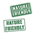 Two Nature friendly grunge rubber stamps vector image vector image