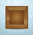 beautiful wooden frame vector image