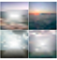 blurred backgrounds with the sea sunset vector image