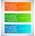 Set of colorful banners with decorative circles vector image