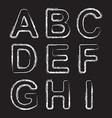 Set Chalk Hand Drawing Alphabet vector image
