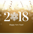 2018 new year postcard vector image vector image