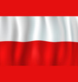 3d flag of poland polish national symbol vector image vector image