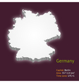 3d map germany vector image