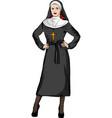 a sexy nun whit white vector image