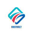 abstract - business logo template concept vector image vector image