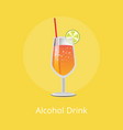 alcohol drink refreshing summer lemonade vector image