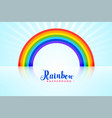 arched rainbow background with reflections vector image vector image