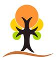 Autumn tree logo vector image vector image