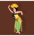 bali balinese dancer traditional indonesia dance vector image vector image