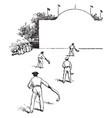ball game vintage vector image