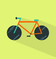 bicycle icon set of great flat icons with style vector image vector image