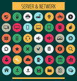 big computer networks icon set trendy line icons vector image
