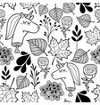 black and white wallpaper with dead unicorns for vector image vector image