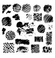 black ink spots isolated on background vector image vector image