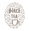 Black tea doodles vector image vector image