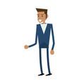 businessman executive cartoon vector image vector image