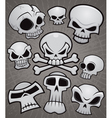 Cartoon Skull Collection vector image vector image