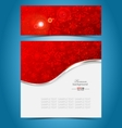 Christmas decorative background template vector image
