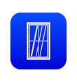 closed window icon digital blue vector image vector image