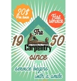 Color vintage Carpenter poster vector image vector image