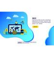 concept seo modern conceptual for banner flyer vector image vector image