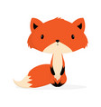 cute fox on white vector image