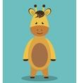 cute horse animal farm isolated icon design vector image vector image