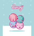 cute rounds emojis vector image vector image