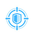 cybersecurity icon on white vector image vector image