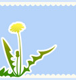 dandelion flower on a beige background vector image vector image