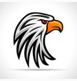 eagle head color design vector image vector image