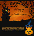 festive halloween party poster vector image vector image