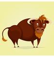 funny bull cartoon character vector image vector image