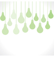green bulb background vector image vector image