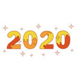 happy new year 2020 numbers from puzzles for vector image