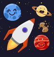 high quality solar system space planets flat vector image vector image