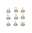 hot coffee icon template collection vector image
