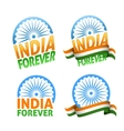 India forever four badges independence day vector image vector image