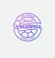 italian ice cream logo gelateria emblem sign vector image vector image