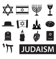 judaism religion symbols set of icons eps10 vector image vector image