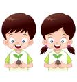 Kids safe world vector image