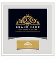 letter o logo design concept royal luxury gold vector image vector image