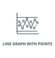 line graph with points line icon linear vector image vector image