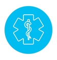 Medical symbol line icon vector image vector image